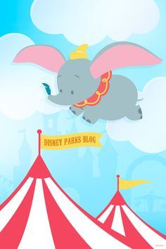 Anniversary Wallpaper: Dumbo The Flying Elephant – Mobile Dumbo – Disney Tapete; Disney Kunst, Arte Disney, Disney Mickey, Disney Art, Disney Pixar, Dumbo Disney, Cartoon Wallpaper, Disney Phone Wallpaper, Cellphone Wallpaper
