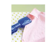 Use a hair straightener to iron clothes... I do this on the bows and ribbons on my daughter's dresses!
