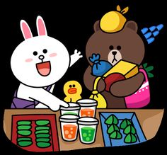 Cony and Brown Cute Couple Cartoon, Cute Love Cartoons, Cony Brown, Brown Bear, Brown Wallpaper, Iphone Wallpaper, Line Cony, Kakao Friends, Brown Line