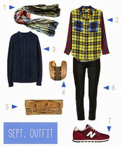 September Outfit -lovmint #Zara #Equipment #Rochas #New Balance #vintage bag #Patrizia Pepe #Cecile Pic
