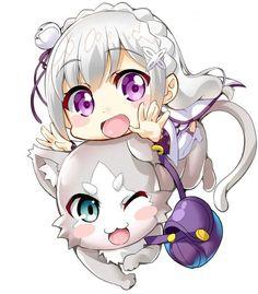Emilia-tan and puck