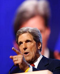 """""""Sen. John Kerry speaks during the 2008 Democratic National Convention on Aug. 27"""" -- Time"""
