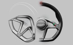Audi A1 clubsport quattro Interior Design Sketch