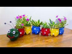 Fun Diy Crafts, Jar Crafts, Craft Stick Crafts, Craft Ideas, Decor Ideas, Plastic Bottle Crafts, Recycle Plastic Bottles, Old Baskets, Easter Baskets