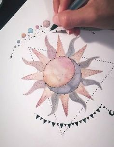 Rose Drawing Gorgeous sun and moon hand drawn colour art doodle illustration Doodle Art, Rose Doodle, Painting & Drawing, Sun Drawing, Sun Painting, Art Inspo, Watercolor Art, Art Drawings, Rose Drawings