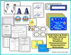 Back to School Space Theme -Count down to a successful launch to the school year.  This HUGE pack contains room decor, organization ideas, Open House Items, activities and much more.  111 pages and a bonus clipart sampler. $