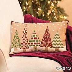 Plush Holiday Christmas Tree Pillow