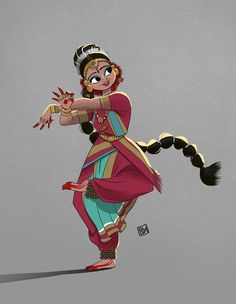 Guga Pixel Art And Illustration, Character Illustration, Dance Paintings, Indian Art Paintings, Cartoon Kunst, Cartoon Art, Indiana, Art Sketches, Art Drawings