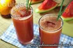 #BomDia! Que tal começar o dia com esse delicioso Suco de Melancia com Capim Cidreira? Experimente esta combinação poderosa de sabores!  #Receita aqui: http://www.gulosoesaudavel.com.br/2013/05/03/suco-de-melancia-e-capim-cidreira/
