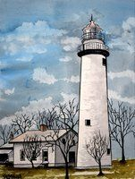 Lighthouse Sketch Pencil Sketch Lighthouse Drawing