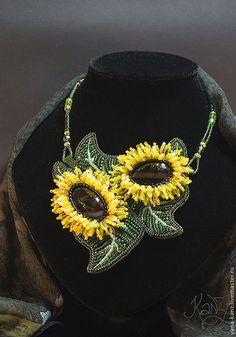 "Яна Викулина. Колье ""Цветы солнца""."