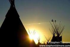 Sunset at Indian Days. Browning, Montana