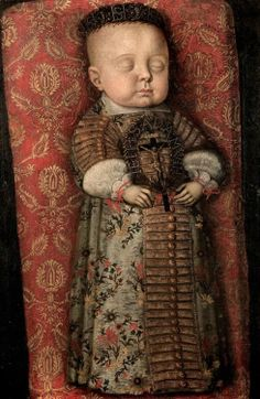 Memorial portrait of Prince Maurice of Saxe-Zeitz (1652-1653) The portrait shows the seven moths old second-born Prince Maurice after his death. Oil on canvas, circa 1653.