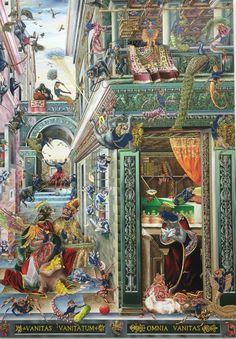 Raqib Shaw The Annunciation after Carlo Crivelli
