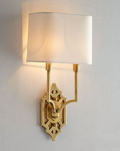 Visual Comfort Silhouette Fretwork Sconce from Horchow. Saved to Light a Candle. Sconce Lighting, Home Lighting, Lighting Design, Lighting Ideas, Circa Lighting, Modern Lighting, Chandeliers, Visual Comfort Lighting, Shield Design