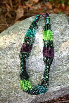 Grapevine Summer Peyote Stitch Necklace -- no attribution.