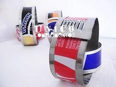 Complementos Único - Pulseras de latas recicladas tutorial