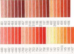 コスモ刺繍糸 刺しゅう糸#25番糸 オレンジ色系 Outdoor Blanket, Colour, Costumes, Color, Colors