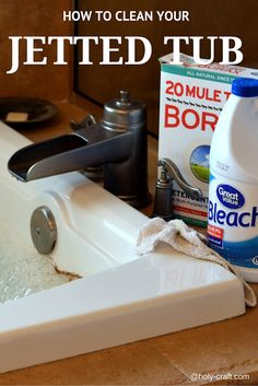 How to clean your jetted Jacuzzi tub with bleach and 20 mule team Borax laundry booster.                                                                                                                                                                                 More
