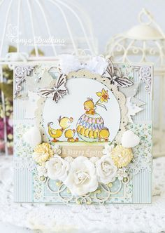 Morning all, I have our Top 5 from the Crafty Bingo challenge today We looked at every entry, you really are all very clever. Beautiful Handmade Cards, Egg Decorating, Baby Cards, Cute Cards, Beautiful Children, Scrapbook Cards, I Card, Cardmaking, Shaby Chic