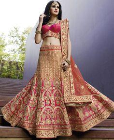Buy Lovely Pink Lehenga Choli online at  https://www.a1designerwear.com/lovely-pink-lehenga-choli-9  Price: $180.83 USD