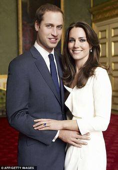 Clarence House said: 'The Prince of Wales is delighted to announce the engagement of Prince William to Miss Catherine Middleton.'