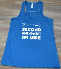 2nd Amendment In Use Tank Top - Workout Shirt Funny - Fitness Tank Top Womens