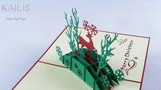 Kaili's 3D Santa Claus's Reindeer Premium Quality Pop up Gift Handmade K...
