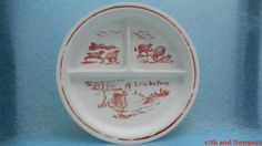 Vintage Fire King Vitrock Red Baby Dish Little by 17thandnewport, $14.99