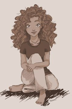 Hazel Levesque. I think some people forget that Hazel is only thirteen so this drawing shoes how young she really is. :)