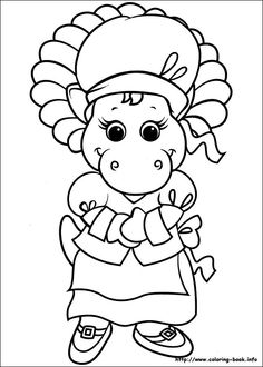 Barney coloring pages PJ and Baby Bop  Coloring Book Pages