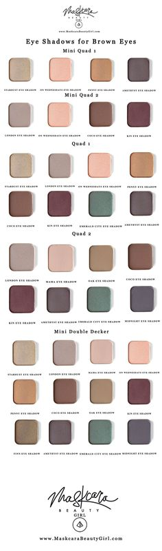 best eyeshadow for brown eyes with Maskcara makeup for MaskcaraBeautyGirl.com, Find the best eye shadow for brown eyes