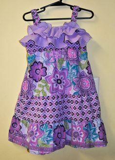 Girls' Clothing (newborn-5t) Outfits & Sets Park Bench Kids Infant Girls Purple Flower Top Size 18mths Modern Design