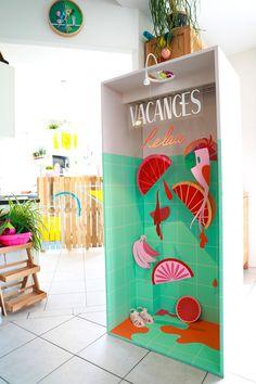 Papier découpé-oranges et jus de fruits expo Papéro de Camille Epplin Bar En Palette, Atelier Creation, Cocktails Bar, Camille, Decoration, Paper Cutting, Creations, Kids Rugs, Illustrations