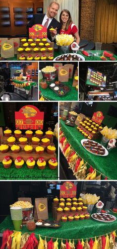 These pictures are amazing! Angela outdid herself :) KC Live Chiefs Party + Chiefs Tassels Giveaway! Football Party Decorations, Football Party Foods, Football Birthday, Football Food, Chiefs Football, Chiefs Game, Football Cupcakes, Football Decor, Football Parties