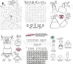 Kids Wedding Activity Book Printable Wedding by VSstudio on Etsy ...
