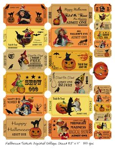 One Blank Dream: Free Halloween coupons digital collage sheet