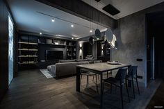 WEBSTA @ carbonsource - Dark interior by YO DEZEEN.