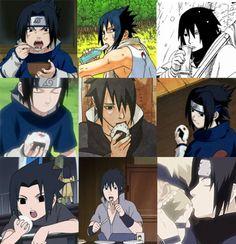 <3 Sasuke + food   *nom nom* :3