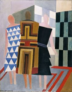 ollebosse:Sonia Delaunay, Simultaneous Dresses (Three Women, Forms, Colours), 1925