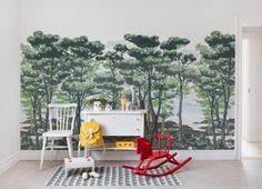 Rebel Walls - Storytime - The Enchanted Forest Daylight Mural - Paper Room