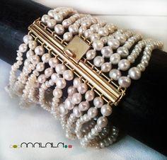 Brazalete de perlas cultivadas