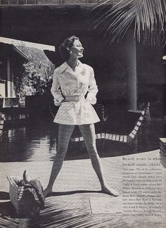 trench shirt   vogue 1955