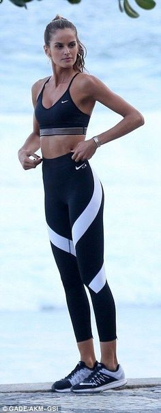 Clothes For Gym Izabel Goulart gives the Olympics arrivals a run for their money in Rio | Daily Mail Online - The gym is one of the places where people can not care about their appearance and concentrate only on working their body to show it later. However there are items that help us exercise much more efficiently.