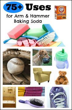 75+ Uses for ARM & HAMMER Baking Soda {PRINTABLE}