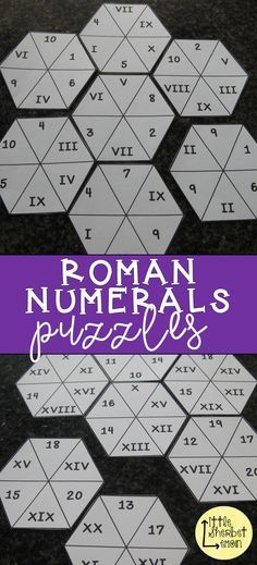 A fun and engaging way to learn about Roman numerals. Roman Numerals Games, Roman Numeral 1, 6th Grade Writing, 1st Grade Math, Grade 3, Second Grade, Math Games, Math Activities, Algebra Worksheets