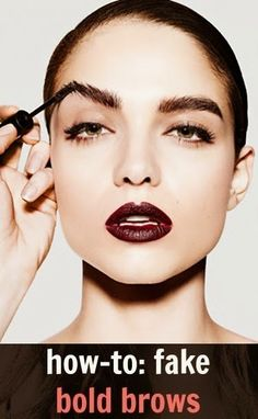 #Beauty : How To Fake Bold Brows   My Favorite Things