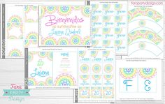 Printable Party Collection MANDALAS and Henna by Fara Party Design