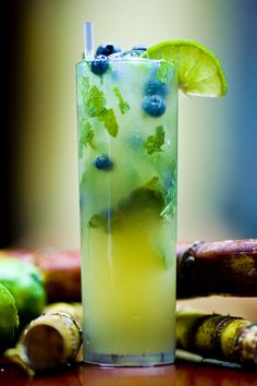 Blueberry Mojito this Evening!?