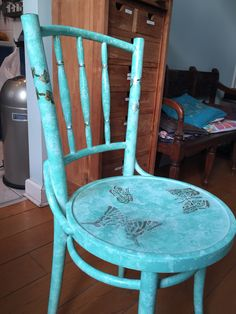 Decorated Thonet chair. By me